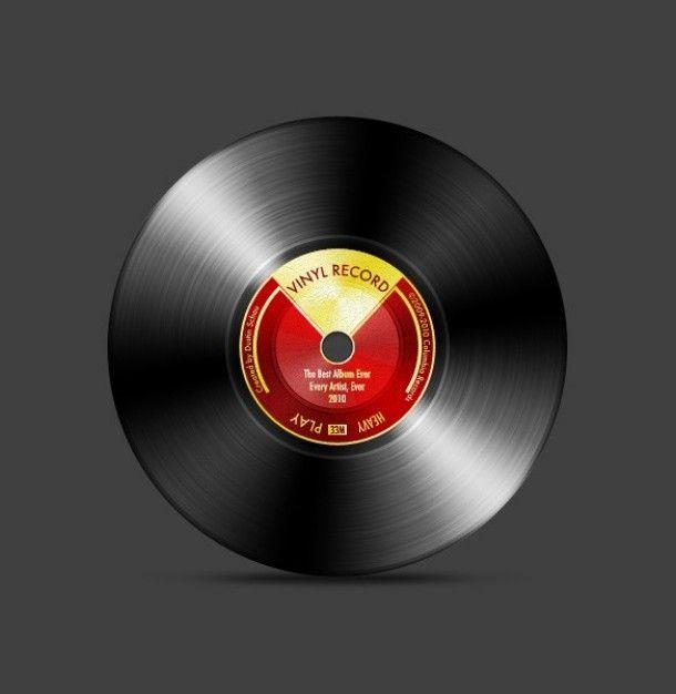 juicy vinyl record graphic psd Free Psd