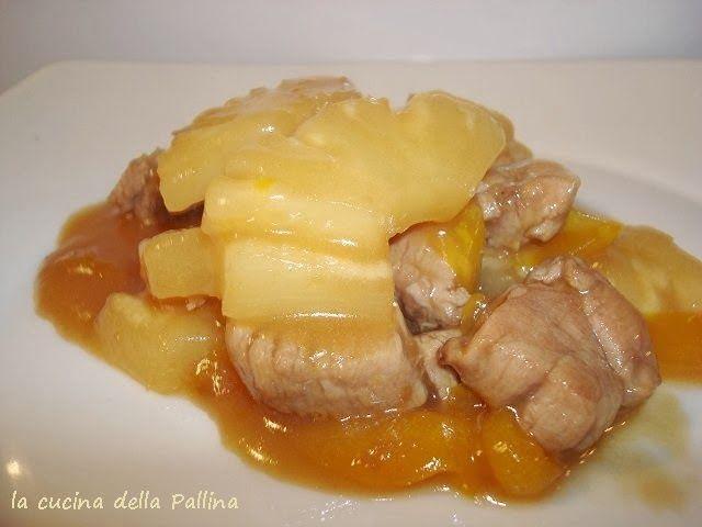 slodkie i kwasne wieprzowina z ananasem i papryka                 Słodkie i kwaśne wieprzowina z ananasem i papryką : jedno z ulubionyc...