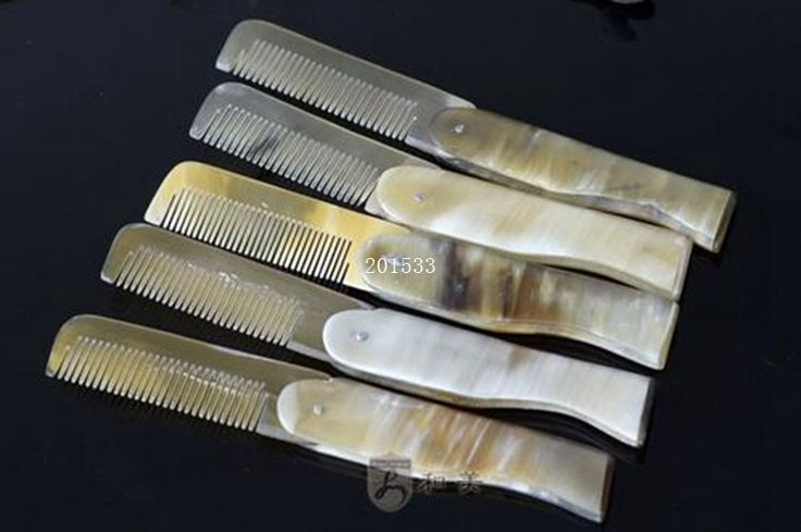 Free shipping 500pcs Yak horn comb 17cm stack comb natural horn comb #Affiliate