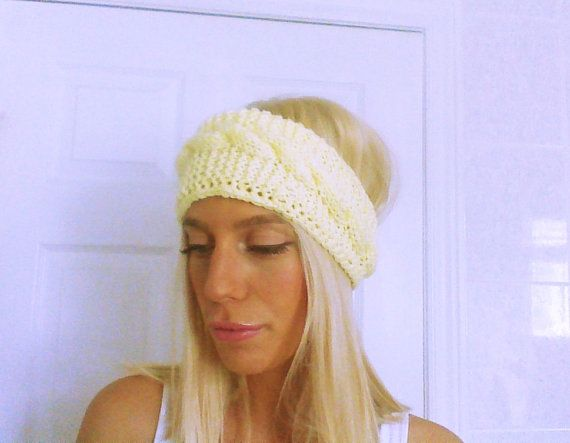 Hey, I found this really awesome Etsy listing at https://www.etsy.com/listing/195212805/light-yellow-knitted-headband-cable