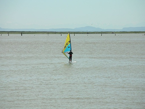 windsurfer - piano player too maybe  070707 by Stephen Rees, via Flickr