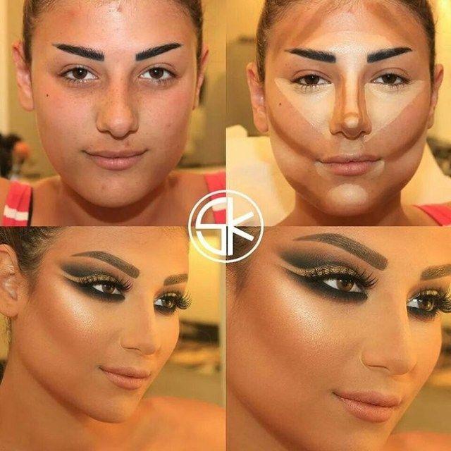 As aparências não enganam Não existe mulher feia, existe as mal maquiadas Acompanhe e copie os milagres dovisagista libanêsSamer Khouzami, o criador da maquiagem photoshop, com bases e corretivos…