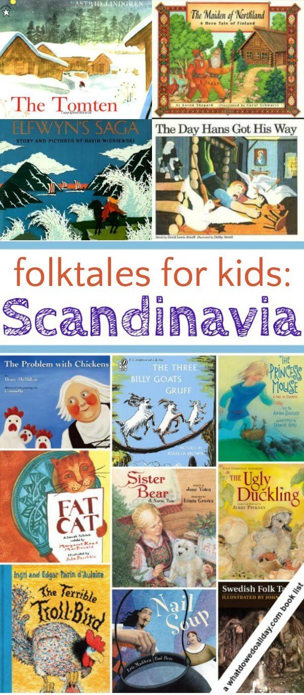Cool folk tales for kids from Sweden, Norway, Denmark, Iceland and Finland.