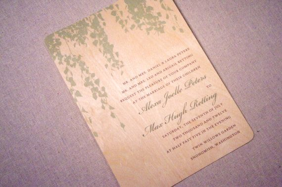 Real Wood Wedding Invitations: Best 25+ Willow Tree Wedding Ideas On Pinterest