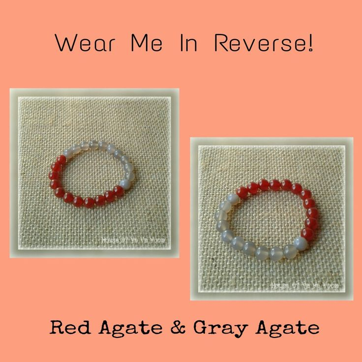 Red Agate Genuine Protection Healing Gemstone & Gray Agate Genuine Healing Gemstone 8mm Beaded Bracelet Reverse Wear Free Shipping!!!