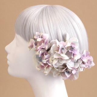 ウェディング ヘッドドレス・花 髪飾りairaka_入荷未定/ヘッドドレス・髪飾り/紫陽花の髪飾り(ラベンダー)