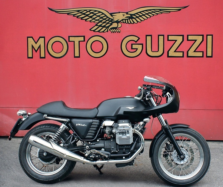 Moto Guzzi V7 Cafè Racer. I'm totally into cafe racers right now but I still love My Gixxer.