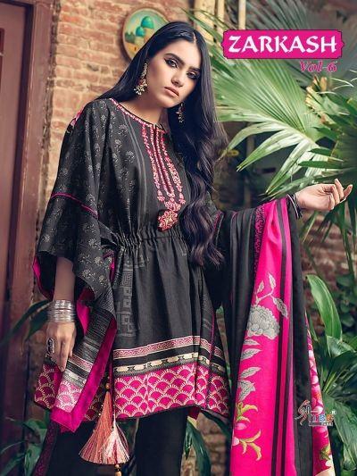 2979862891 Shree Fab Zarkash Vol 6 Pure Cotton Print Embroidered Karachi Suit  Wholesale Dealer Surat India (3)