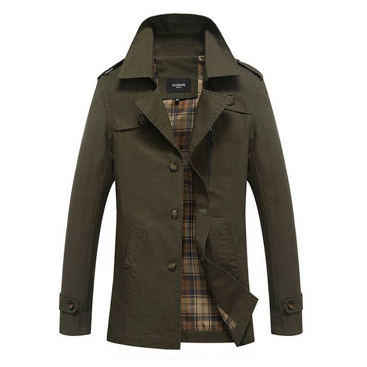 Осень 2017 г. Новый Для мужчин ветровка Однобортный пальто Повседневное модные Повседневное тонкий Для мужчин куртка Тренчи для женщин пальто Большие размеры M-5XL 85z