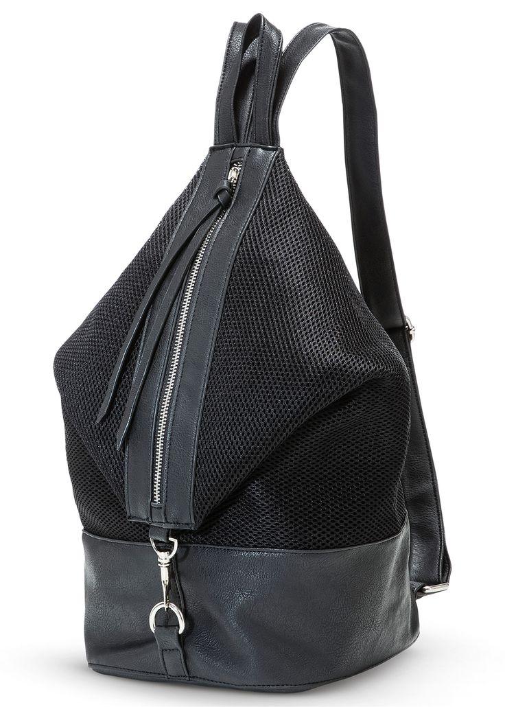 Rugzak zwart - bpc bonprix collection nu in de onlineshop van bonprix.nl vanaf ? 30.99 bestellen. Modieuze, chique rugzak in een materiaalmix van netachtig ...
