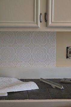 Affordable Kitchen Makeover Wallpaper Backsplash