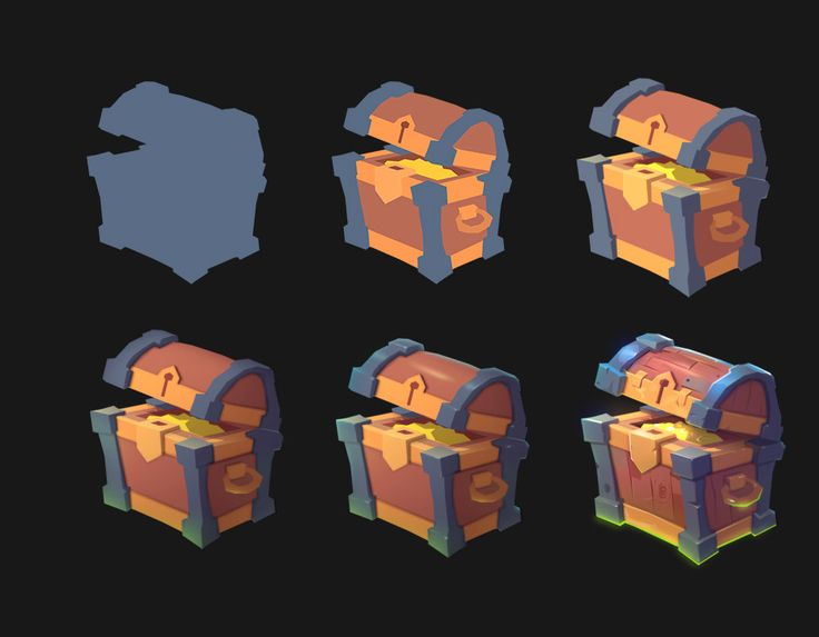 ArtStation - Treasure chest, Ruslan Kim