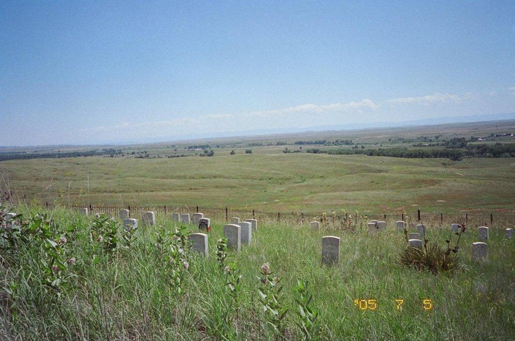 A great photo of the field where the Battle of Little Bighorn was fought.