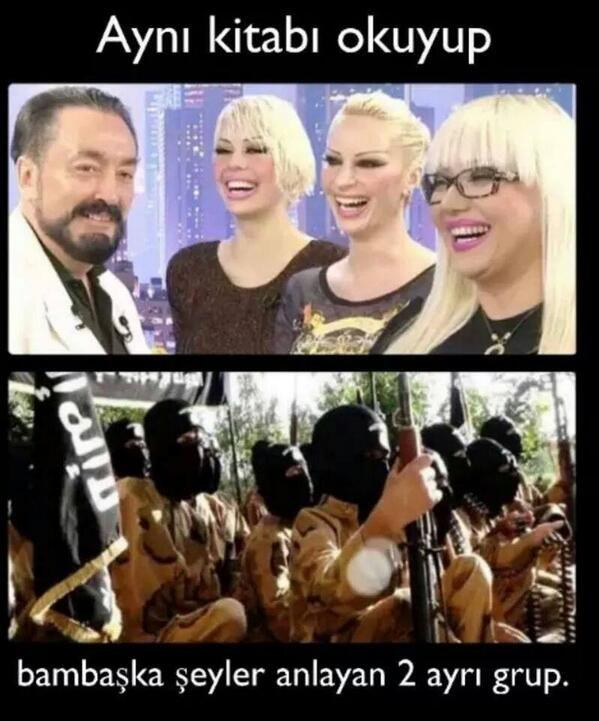Aynı kitabı okuyup Bambaşka şeyler anlayan 2 ayrı grup. #mizah #matrak #komik #espri #komik #şaka #gırgır #komiksözler