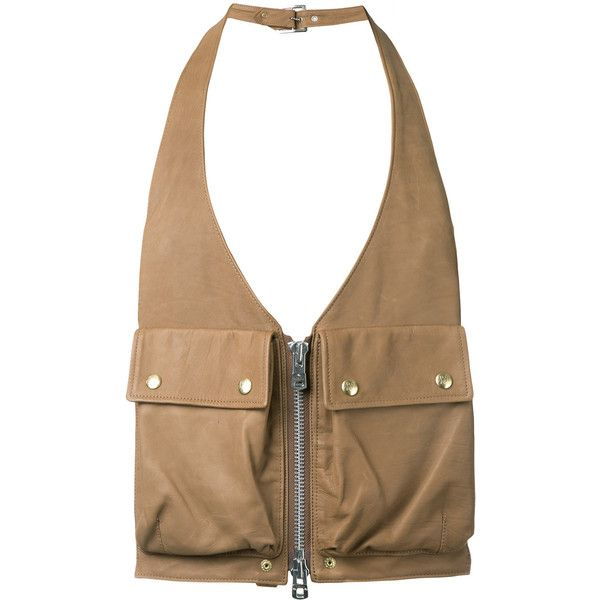 The Soloist - utility pocket gilet - men - Calf Leather - One Size (1149260 SYP) ❤ liked on Polyvore featuring men's fashion and brown