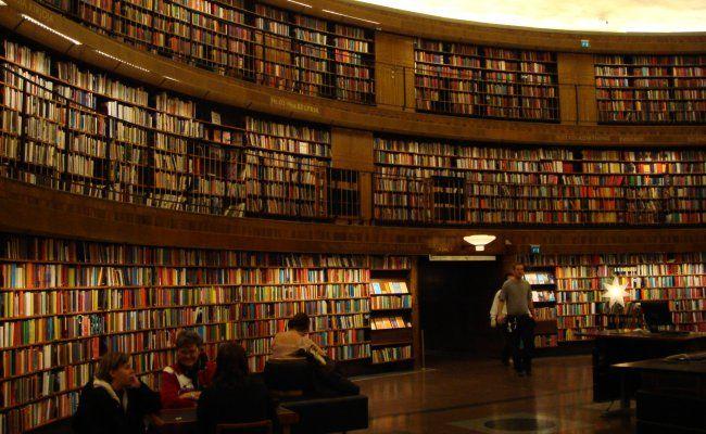 Biblioteca publica de Estocolmo.