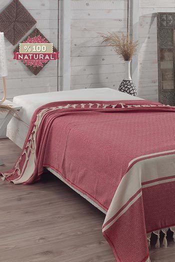 Élénk Lazac pamut ágytakaró