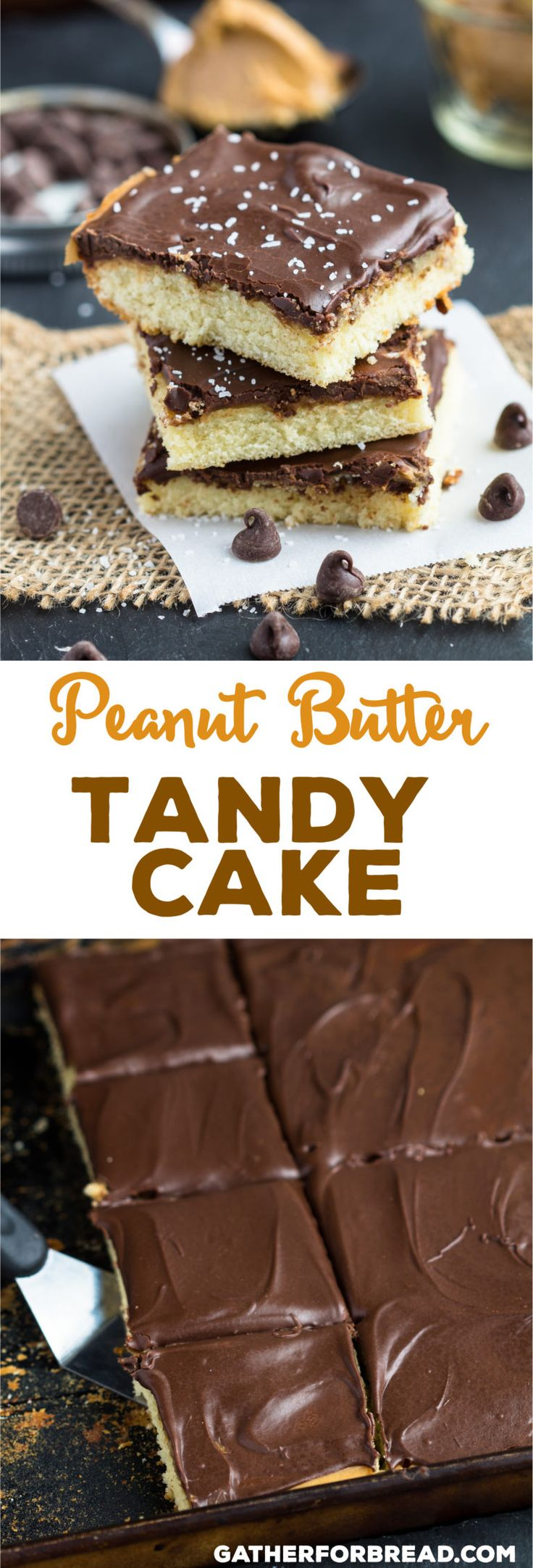 Peanut Butter Tandy Cake - Friends and family love it when you make this cake!