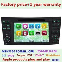 Preço de fábrica Do Carro DVD Player para Mercedes Benz E G CLS CLK classe e W211 W219 W463 W209 GPS de Navegação 3G WIFI Bluetooth USB Rádio