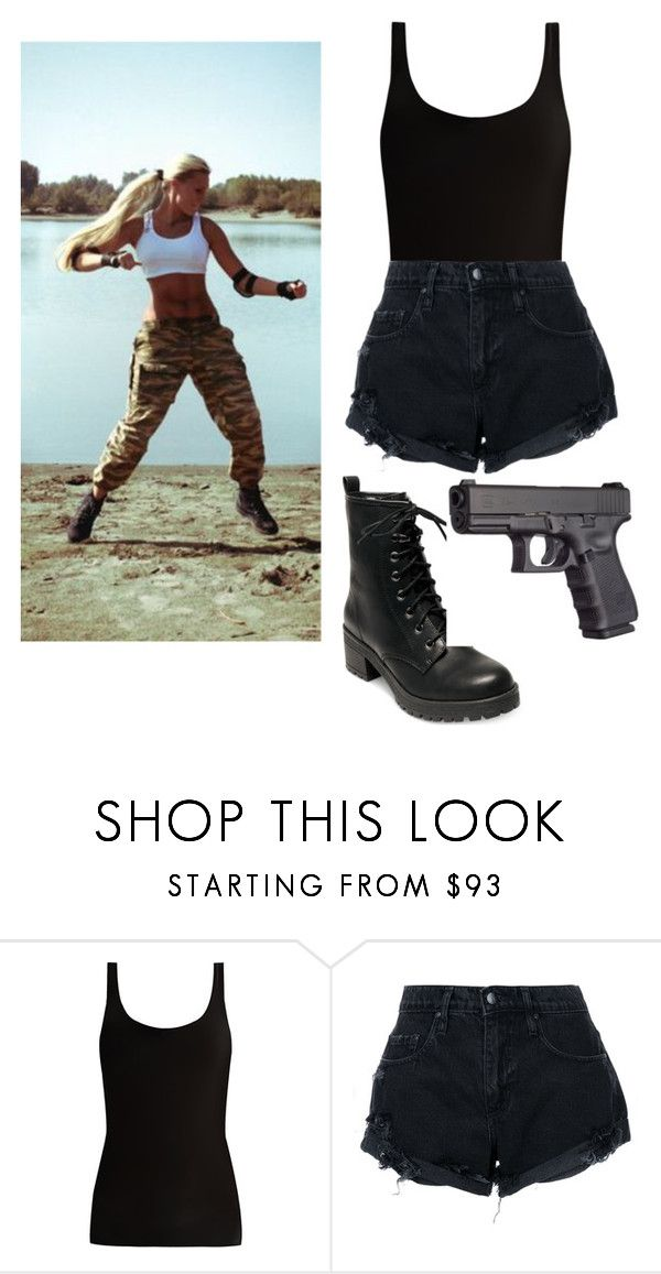 """Sonya blade."" by blackwolf81 ❤ liked on Polyvore featuring Skin, Nobody Denim and Madden Girl"