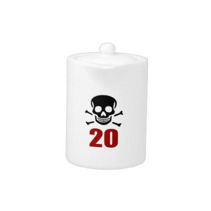 #20 Birthday Designs Teapot - #giftidea #gift #present #idea #number #twenty #twentieth #bday #birthday #20thbirthday #party #anniversary #20th