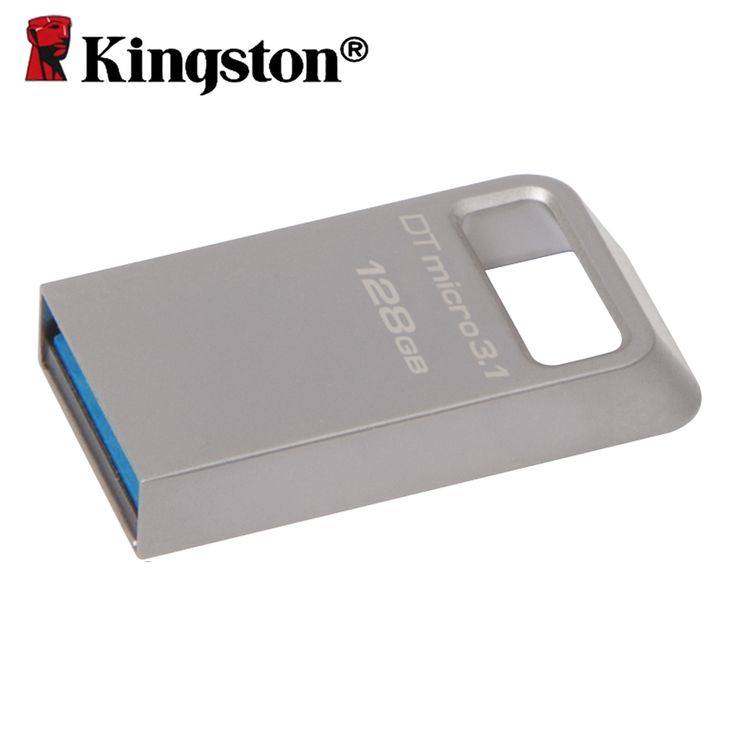 Kingston 128gb Pen Drive USB 3.1  Memory Stick Metal Micro Memoria USB 3.0 Chiavette USB high speed