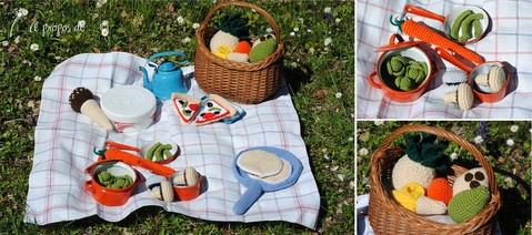 DIY, tutorial, amigurumi un picnic de printemps with all the links to the free patterns.