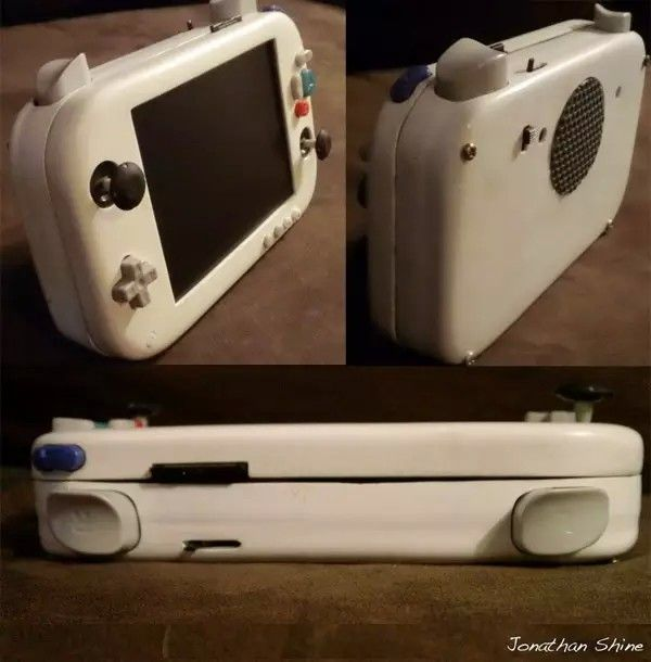 Portacube step 8 build a frankencase hopefully similar for Wii u portable mod