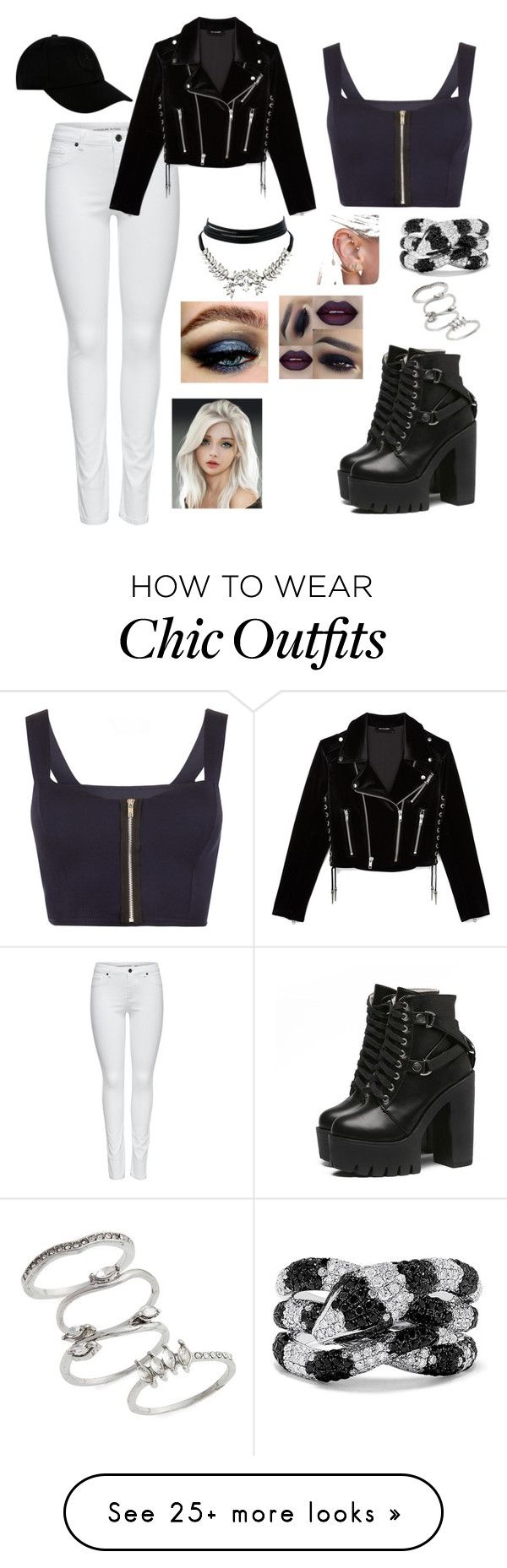 """""""Modern Day Villian"""" by lcobleigh on Polyvore featuring M&Co, The Kooples, WearAll, Effy Jewelry, Topshop, WithChic, STONE ISLAND and modern"""