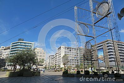 The famous Omonia square in Athens, Greece.