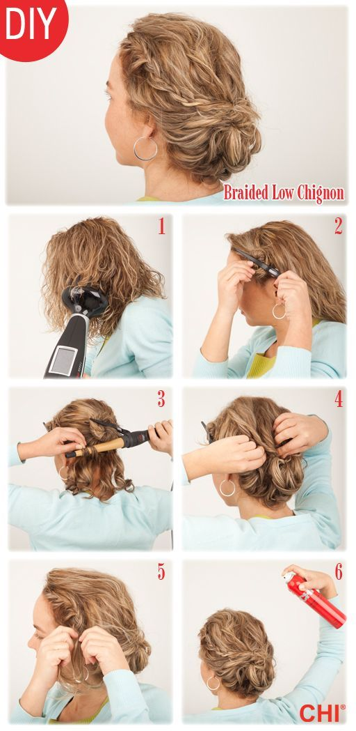 steps to create Jennifer's Lawrence's braided chignon  | followpics.co
