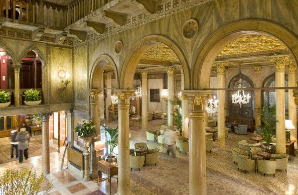 "Hotel Danieli in Venice, Italy, where Johnny Depp and Angelina Jolie have filmed scenes for ""The Tourist."" The hotel, known for its Gothic a..."