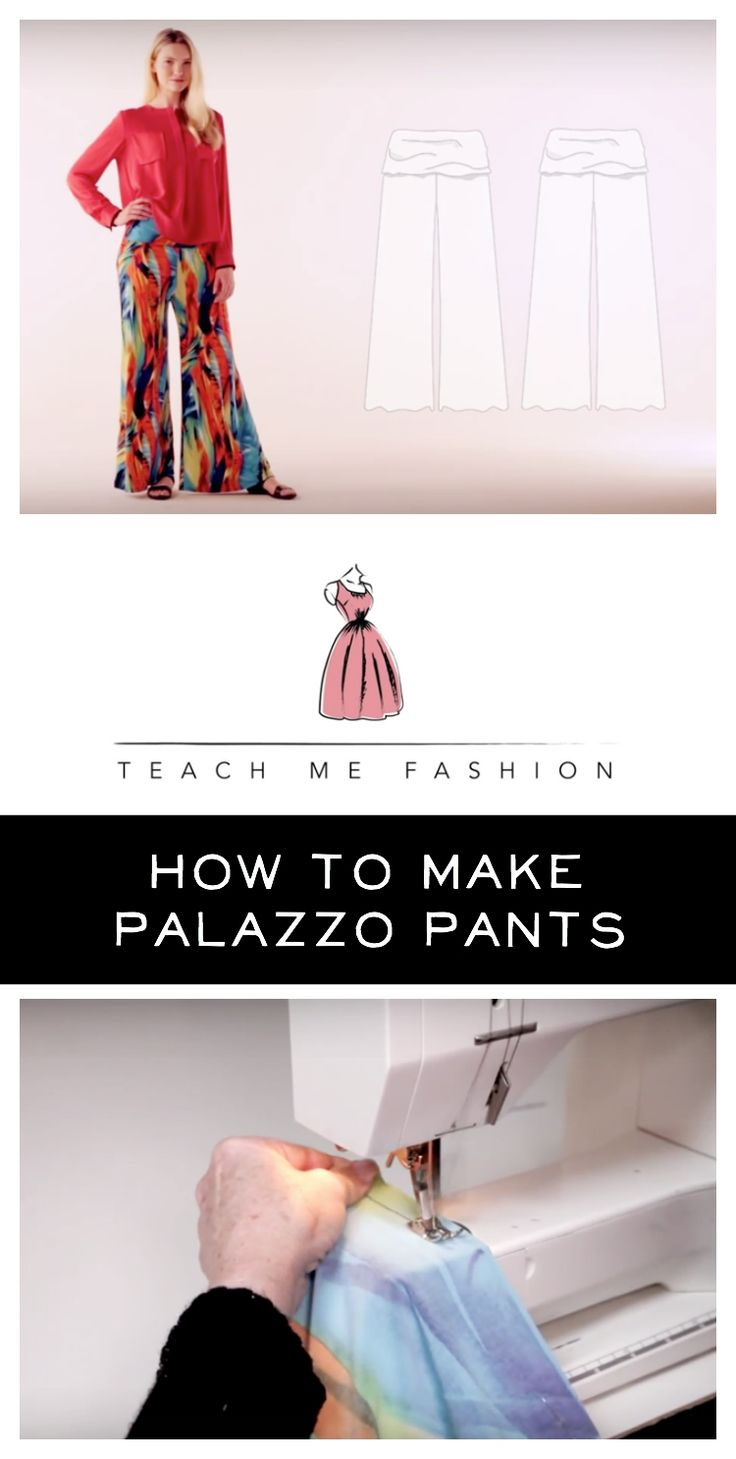 How to sew palazzo pants (sewing video DIY)