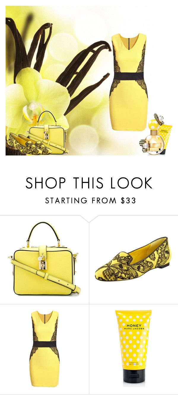 Vanilla Yellow by vampire-kate on Polyvore featuring Alexander McQueen, Dolce&Gabbana and Marc Jacobs