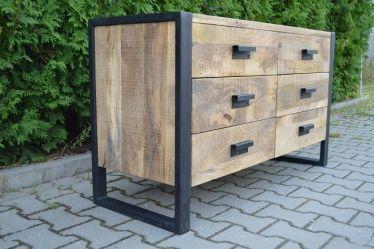 Komoda (120 cm) - kolekcja meble Industrialne