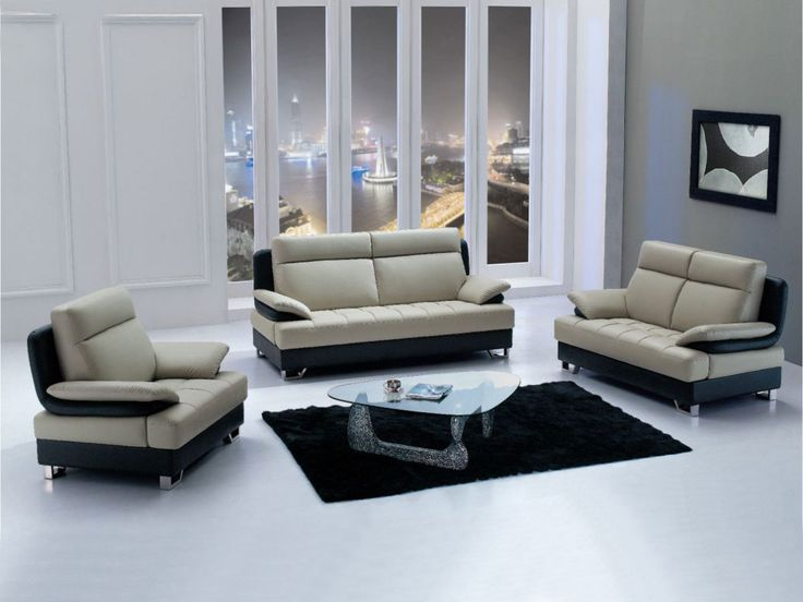 Incredible Sofas For Small Living Rooms With Black And White Color And Glass  Top Coffee Table