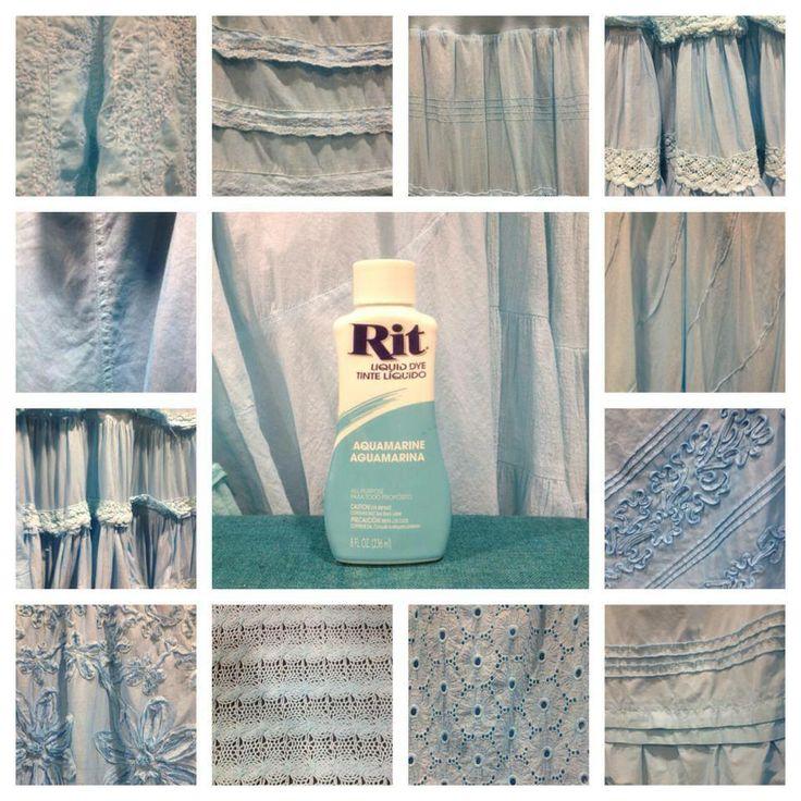 Aquamarine Rit Dye Rit Color Inspiration Pinterest