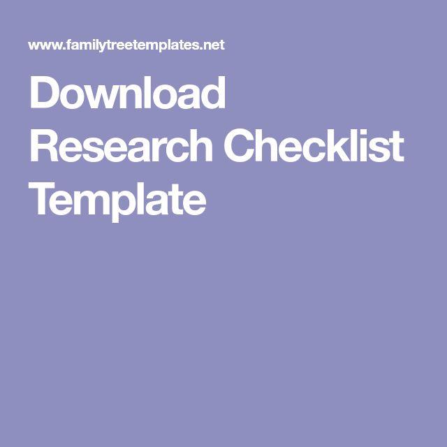 best 25  checklist template ideas on pinterest
