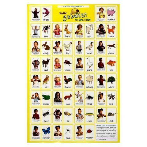 Babygebaren Lentepakket: bij bestelling van de Lotte en Max dvd 'boerderijdieren' en de bijbehorende set gebarenkaarten, krijg je van ons gratis de 'boerderijdieren poster'. Zo ben je helemaal klaar voor de lente, met deze vrolijke gebaren