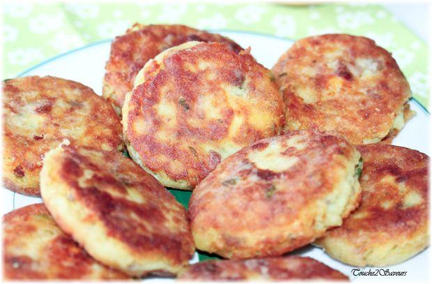 Galettes de pommes de terre au thon farcies au kiri
