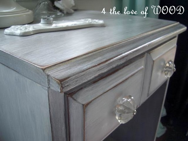 White Washed Dove Gray Table Just Primer Walnut Stain