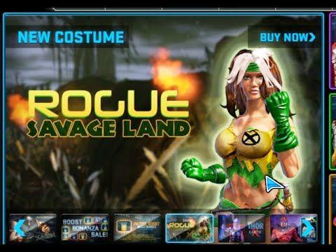 Marvel Heroes - Rogue Savage Land Costume Gameplay