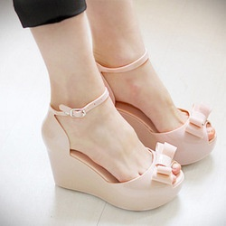 mobile site-New arrival 2013 melissa jelly shoes bow platform wedges sandals open toe high-heeled shoes