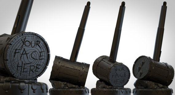Wacom 3D Printed Harlequin Mallet Pen Holder