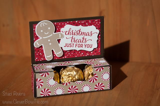 Candy Cane Lane Treat Box. Candy Cane Christmas and Cookie Cutter Christmas stamp sets. Staci Rivera, Stampin' Up! SU