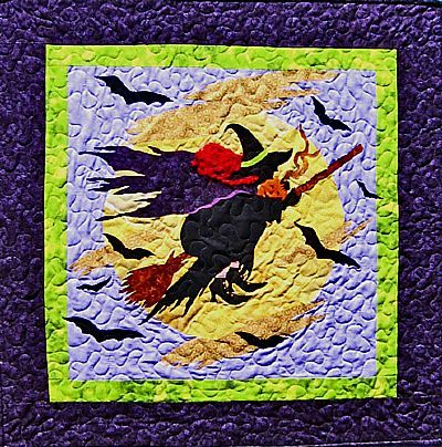 Halloween Quilt Patterns | Halloween Witch Quilt Pattern