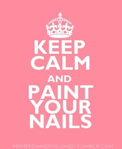 Keep Calm And Paint Your Nails Black And White