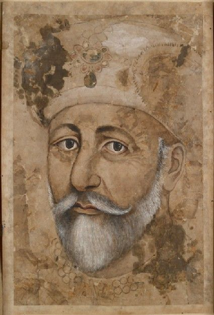 Mughal; Type: Portraiture and court life; Title: 'The emperor Bahadur ...