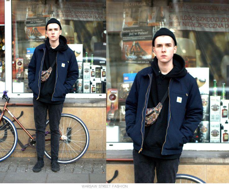 #warsawstreetfashion #warsaw #street #fashion #polish #stylish #guy #gangster #man #boy #handsome #black #cap #shoes #vans #bike #rower #ulica #centrum #city #miasto #moda #modauliczna #style #styl #outfit #look