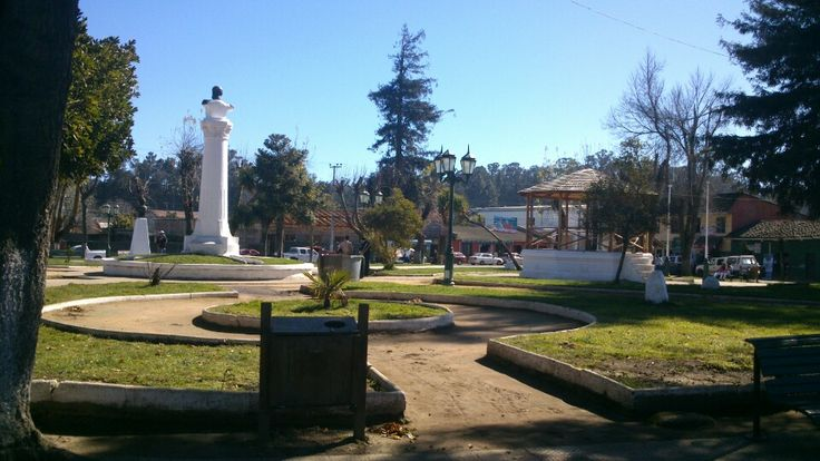 Plaza de armas Chanco en Maule